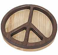 MLCS Acrylic Peace Sign Bowl and Tray