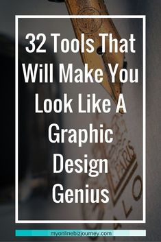 32 Online Graphic Design Tools To Help You Create Viral Images 32 Tools That Will Make You Look Like A Graphic Design Genius (even if you're artistically challenged) If you're anything like me, you probably do not have a single creative bone in you when i Online Graphic Design, Graphic Design Tools, Graphic Design Tutorials, Graphic Designers, Design Posters, Freelance Graphic Design, Graphic Design Portfolios, In Design Tutorial, Graphic Design Programs