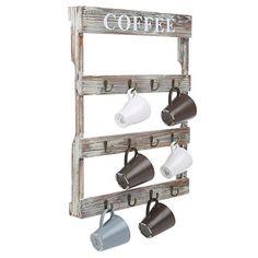 Coffee Bar Home Decor - 12 Hooks Rustic Wall Mounted Wood Coffee Mug Holder, Kitc... https://www.amazon.com/dp/B01N8SSKLT/ref=cm_sw_r_pi_dp_x_OGtDzb6YM1DR5