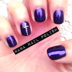 Purple Lent Nails