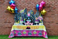 Superheroes Birthday Party Ideas   Photo 13 of 36