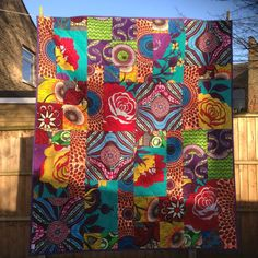 Beautiful African Fabric Patchwork Quilt - The British Craft House African Quilts, African Fabric, African Babies, Custom Quilts, Fabric Squares, Cushion Fabric, Decorative Pillow Covers, Fabric Art, Quilt Making