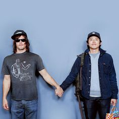 """reedusnorman: """"Norman Reedus and Steven Yeun at Walker Stalker Convention NY/NJ 2015 """""""