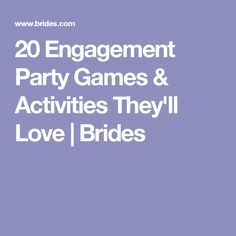 20 Engagement Party Games & Activities They'll Love | Brides