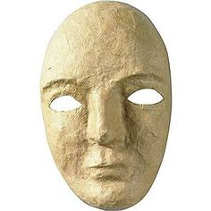 Creativity Street Paper Mache Mask Kit, 8 x 5 Inches Ready to decorate papier-mâché masks help encourage kids' creativity. Perfect for arts and crafts and many projects. Age Recommendation: Ages 3 and Up; Quantity: 1 each. Mask Paper, Paper Mache Mask, Blank Mask, Doll Tutorial, Kraft Paper, Diy Paper, Paper Crafting, Creative Kids, Mask Making