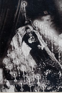 """""""Mad' King Ludwig of Bavaria, The Drowned Swan King. Cabinet Card, 1886."""
