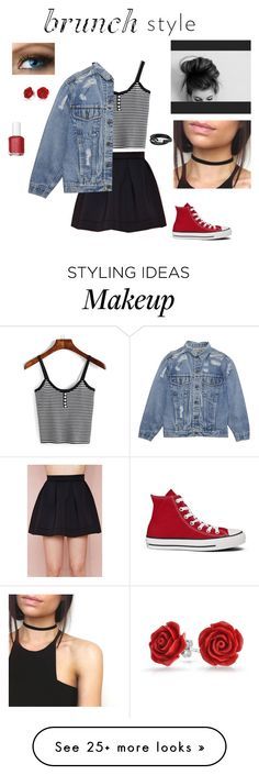 """Untitled #191"" by dobbyatemysocks on Polyvore featuring Honey Punch, Converse, Bling Jewelry and Essie"
