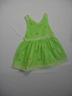 RARE EDITIONS BABY GIRL SIZE 24 MONTHS GREEN SUMMER 100% COTTON SUMMER #RareEditions