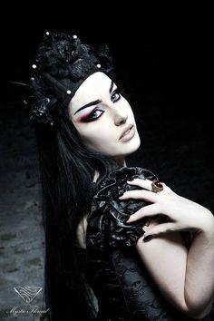 Model/MUA/Edit: Baph O Witch Photo: Frank Schwartz Crown & ring: Mystic Thread Dress: DarkinCloset Welcome to Gothic and Amazing |www.gothicandamazing.com