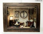 Traditional oriental Herbal Medicine Shop- handmade Dollhouse Miniatures. $590.00, via Etsy.