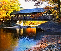 Artist's Bridge, Newry, ME Maine's covered bridges first appeared in the mid-1800s to pave the way for horse-drawn caravans. Before fire, fl...