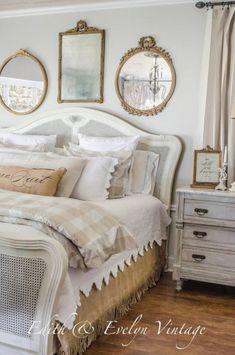 30 Best French Country Bedroom Decor and Design Ideas for 2021 Country Bedroom Design, French Country Bedding, White Bedroom Design, French Country Bedrooms, French Country House, Bedroom Neutral, Country Style, Bedroom Black, Bedroom Modern