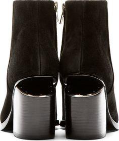 Alexander Wang Black Notched Heel Gabi Ankle Boots