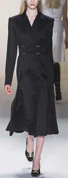 Long coat by Calvin Klein. Fall 2013