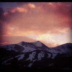 Breckenridge, Colorado, sunset. March 15, 2012.