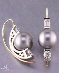 """Sea of Love"" Pearl and Diamond Earrings 