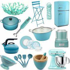 more turquoise kitchen goodies - Turquoise Kitchen Decor