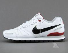 Nike Air Waffle Trainer - White / Black - Team Red