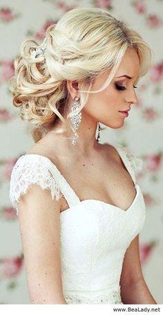 Bride s loose chignon messy bun bridal hair