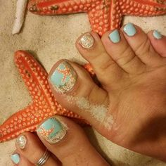 My Favorite ever..Starfish and Sand Beach Toes