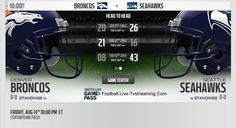 Watch Denver Broncos vs Seattle Seahawks Live Stream, Schedule, TV Broadcast, Roster, Score, video.
