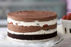 Chocolate And Vanilla Cheesecake Recipe, Cheesecake Recipes, Finnish Recipes, Sweet Cakes, Something Sweet, Let Them Eat Cake, Yummy Cakes, No Bake Cake, Baking Recipes