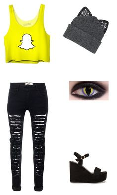 """Idk"" by random-crap-and-fandoms ❤ liked on Polyvore featuring Silver Spoon Attire and Nly Shoes"