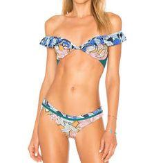 Zimmermann Corsair Shoulder Frill BikiniBlack Underwire Lace Tule $300 RRP