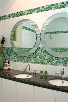 CTM Bubble glass tile Pond - modern - accessories and decor - tampa - American Tile and Stone/Backsplashtogo.com