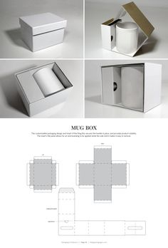 DIELINES II: The Designer s Book of Packaging Dielines Mug Box FREE resource for structural packaging design dielinesMug Box FREE resource for structural packaging design dielines Packaging Nets, Packaging Dielines, Packaging Box, Jewelry Packaging, Packaging Design, Cardboard Packaging, Packing Boxes, Diy Box, Mug Designs