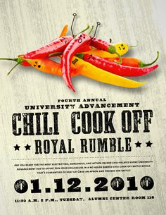 Chili cook-off poster by J.Farrell Studio