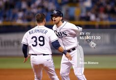 News Photo : Ben Zobrist of the Tampa Bay Rays celebrates with...