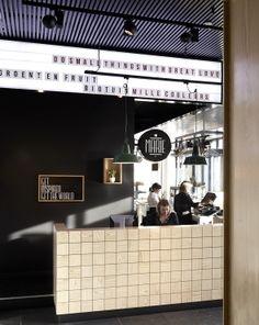 Creneau International › Bar Marie, Hospitality Concept #cinemasignage #black&white #letters