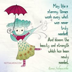 A reminder or life's stormy times - by Karen Salmansohn Famous Poems About Life, Short Poems About Life, Karen Salmansohn, Bloom Where Youre Planted, How To Cure Anxiety, Feeling Stressed, Tough Times, Best Teacher, Quote Posters