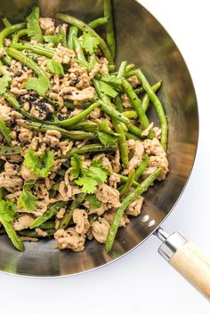 A quick and easy gluten-free and healthy Asian stir-fry recipe with green beans, ground turkey, ginger and hoisin. On the table in 30 minutes or less. Healthy Asian Recipes, Asian Dinner Recipes, Gluten Free Recipes For Dinner, Healthy Dinner Recipes, Chinese Recipes, Healthy Meals, Healthy Food, Easy Turkey Recipes, Ground Turkey Recipes