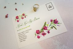 perfect for couples who love florals and available in a few different ways! Check out Romilly at The Little Paper Shop!