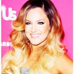 Really like her ombré hair.