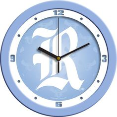 Mens Rice University Owls - Baby Blue Wall Clock