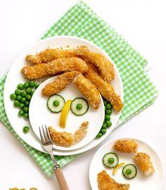 Otra cena facilita para mi niña! Como veis, los he hecho en el horno, para que no engorden tanto! Fuente: http://food-4tots.com/2011/08...