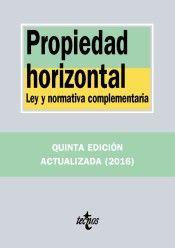 Propiedad horizontal : ley y normativa complementaria