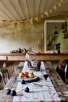 The New Victorian Ruralist: Whimsical Simplicity... (love this room with the tea stained bunting!)