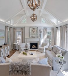17 luxury living room interior design ideas for mod&; 17 luxury living room interior design ideas for mod&; Home Living Room, Interior Design Living Room, Living Room Designs, Apartment Living, Luxury Living Rooms, White Living Rooms, Living Room Decor Elegant, Craftsman Living Rooms, Open Kitchen And Living Room