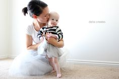 delia creates: Gray Day Tulle Skirts  I am so doing this!