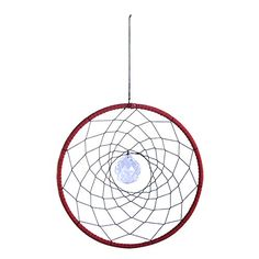 H&D Red Dream Catcher with Crystal Ball Pendant Wall Hanging Decoration Ornament Craft Gift Wind Chime Parts, Wind Chimes For Sale, Wind Chimes Sound, Wind Chimes Craft, Car Ornaments, Ornament Crafts, Hanging Ornaments, Circle Shape, Fashion Room
