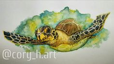 Sea Turtle, Cory Hart Art  (Cory McNelia). you find and buy my prints on Etsy or contact me directly at corymcnelia@gmail.com also check me out on Instagram! @cory_h.art
