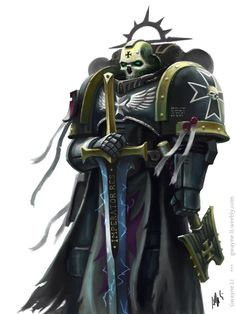 haaaaaaaaave-you-met-ted:  Black Templar Chaplain by Eupackardia