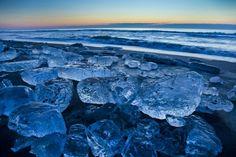 北海道十勝・豊頃町の十勝川河口の大津海岸で、1月中旬~2月中旬までの短い間に見られる「ジュエリーアイス」をご存知だろうか