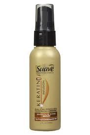 I apply to damp hair-So Smoothy :)  Suave Professionals Keratin Infusion Smooth & Shine Serum