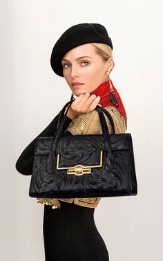 Ralph Lauren Collection Be the first to see the Black Tooled Bag from the Argentine Collection from tomorrow's Sunday Styles