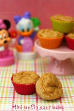 Mini muffin pour bébé à la compote et céréales. #recette #bébé #diversification
